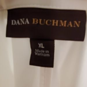 Dana Buchman Tops - White Tunic Blouse with Side Zip